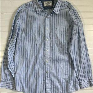 Nautica Sea Voyage Button Down Collar Shirt Men XL